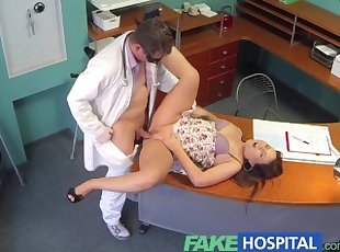 FakeHospital Doctor eases voluptuous patients back pain with his talent
