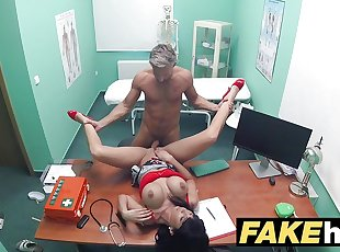 Fake Hospital Toilet room blowjob and fucking