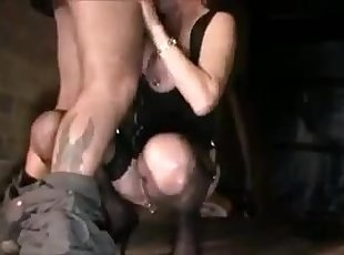 British Slut Mom cheating outside