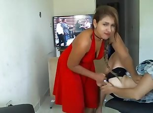 Naughty girl strip her mother.mp4