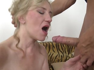 Taboo sex with mature mom Janka and young boy