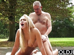 Old and Teen Porn BustyTeen Gets Wet and Sucks Cock