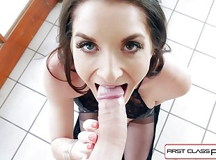 First Class POV - Watch Silvia Saige sucking a big dick