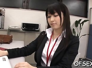 Lustful colleagues getting sexy and in the workplace