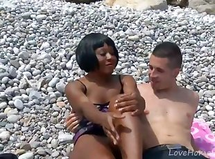 Cute Black Girl Craves Hard White Dick