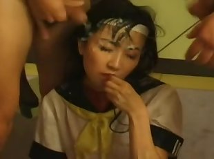 19yr old Japanese Schoolgirl Can't Live Without Bukkake (Uncensored)