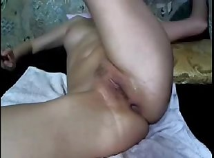 Rus. Homemade DOUBLE Anal FISTING!