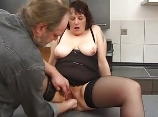Pierced older toyed and fisted