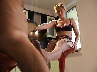 Footjob with the sexy woman