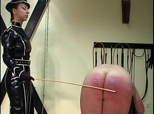 Femdom Empress Maxena military caning