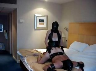 Busty domina fucks a guy in a femdom video
