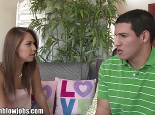 OnlyTeenBJ TEEN Sara Luv is fucking her sister's ex!