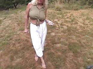 Huge tit milf cheerleader sucks cock of coach