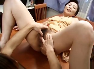 Hottest Japanese battle-axe helter-skelter From Blowjob, Dilettante JAV glaze