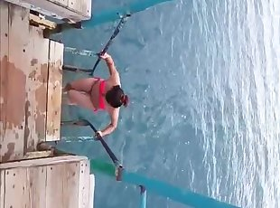 swimming asian battle-axe